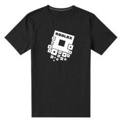 Мужская стрейчевая футболка Roblox logos