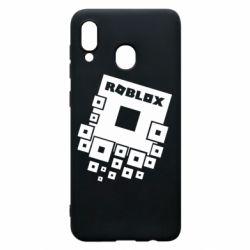 Чехол для Samsung A20 Roblox logos