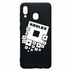 Чехол для Samsung A30 Roblox logos