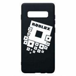 Чехол для Samsung S10+ Roblox logos