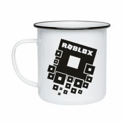 Кружка эмалированная Roblox logos