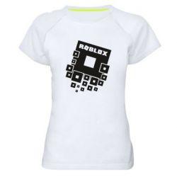 Женская спортивная футболка Roblox logos