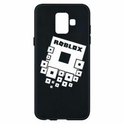 Чехол для Samsung A6 2018 Roblox logos