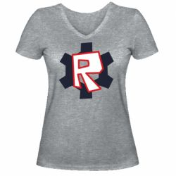 Жіноча футболка з V-подібним вирізом Roblox mini logo
