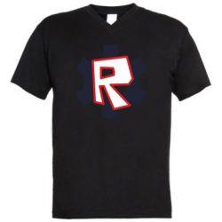 Чоловіча футболка з V-подібним вирізом Roblox mini logo