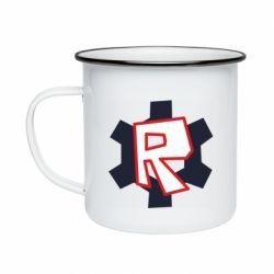 Кружка емальована Roblox mini logo
