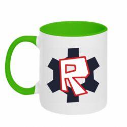 Кружка двоколірна 320ml Roblox mini logo