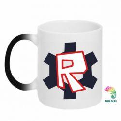 Кружка-хамелеон Roblox mini logo