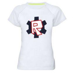 Жіноча спортивна футболка Roblox mini logo