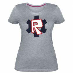 Жіноча стрейчева футболка Roblox mini logo