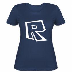 Жіноча футболка Roblox minimal logo