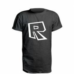 Подовжена футболка Roblox minimal logo