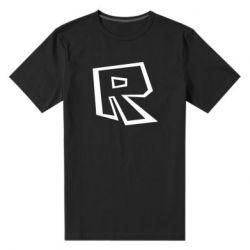 Чоловіча стрейчева футболка Roblox minimal logo
