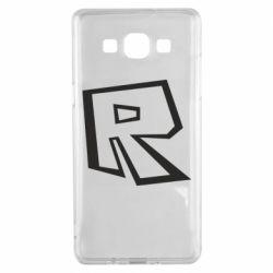 Чохол для Samsung A5 2015 Roblox minimal logo
