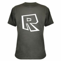 Камуфляжна футболка Roblox minimal logo