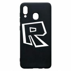 Чохол для Samsung A20 Roblox minimal logo