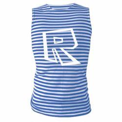 Майка-тільняшка Roblox minimal logo