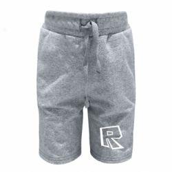 Дитячі шорти Roblox minimal logo
