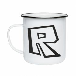 Кружка емальована Roblox minimal logo