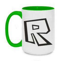 Кружка двоколірна 420ml Roblox minimal logo