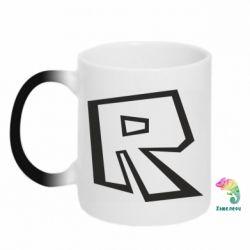 Кружка-хамелеон Roblox minimal logo