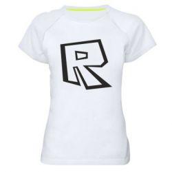 Жіноча спортивна футболка Roblox minimal logo