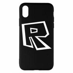 Чохол для iPhone X/Xs Roblox minimal logo