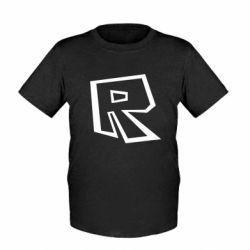Дитяча футболка Roblox minimal logo