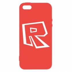 Чехол для iPhone5/5S/SE Roblox minimal logo