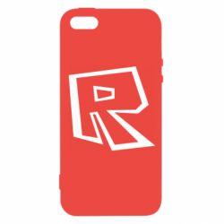Чохол для iPhone 5 Roblox minimal logo