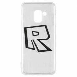 Чохол для Samsung A8 2018 Roblox minimal logo