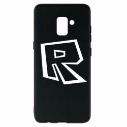 Чохол для Samsung A8+ 2018 Roblox minimal logo