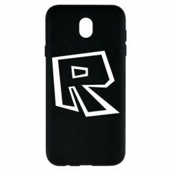 Чохол для Samsung J7 2017 Roblox minimal logo