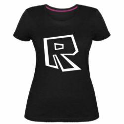 Жіноча стрейчева футболка Roblox minimal logo