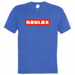 Чоловіча футболка з V-подібним вирізом Roblox suprem