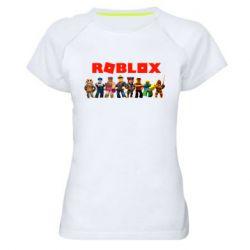 Жіноча спортивна футболка Roblox team