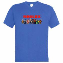 Чоловіча футболка з V-подібним вирізом Roblox team