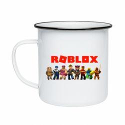 Кружка емальована Roblox team
