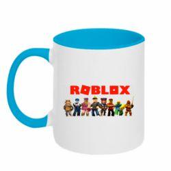 Кружка двоколірна 320ml Roblox team