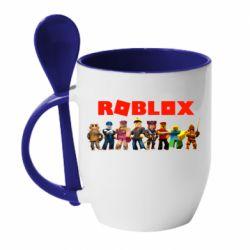 Кружка з керамічною ложкою Roblox team