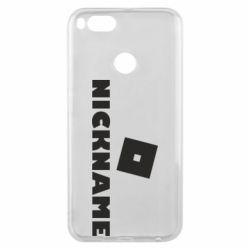 Чехол для Xiaomi Mi A1 Roblox Your Nickaneme