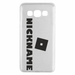 Чехол для Samsung A3 2015 Roblox Your Nickaneme