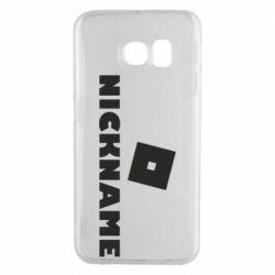 Чехол для Samsung S6 EDGE Roblox Your Nickaneme