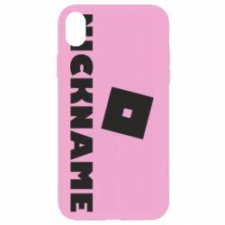 Чехол для iPhone XR Roblox Your Nickaneme