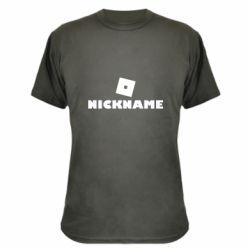 Камуфляжная футболка Roblox Your Nickaneme