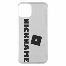 Чехол для iPhone 11 Roblox Your Nickaneme