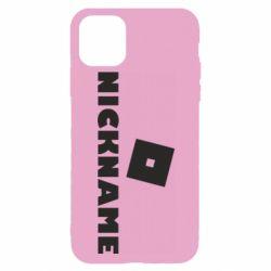 Чехол для iPhone 11 Pro Roblox Your Nickaneme