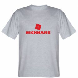 Чоловіча футболка Roblox Your Nickaneme