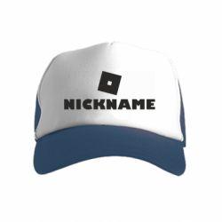 Дитяча кепка-тракер Roblox Your Nickaneme