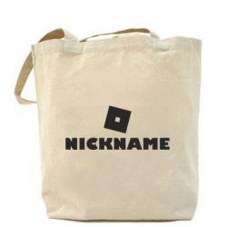 Сумка Roblox Your Nickaneme
